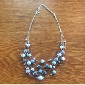Bead and wire necklace